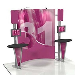 Linear 10ft x 10ft Kit 31 Trade Show Display provides the looks, style and sophistication of a custom exhibit with the ease, convenience and value that you're looking for. The Linear range of portable exhibits is designed to ship with minimal lead time
