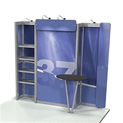 Linear 10ft x 10ft Kit 37 Trade Show Display provides the looks, style and sophistication of a custom exhibit with the ease, convenience and value that you're looking for. The Linear range of portable exhibits is designed to ship with minimal lead time