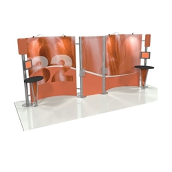 Linear 10ft x 20ft Kit 32 Trade Show Display provides the looks, style and sophistication of a custom exhibit with the ease, convenience and value that you're looking for. The Linear range of portable exhibits is designed to ship with minimal lead time