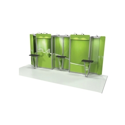 Linear Bold 10' x20' Kit 34 Trade Show Display provides the looks, style and sophistication of a custom exhibit with the ease, convenience and value that you're looking for. The Linear range of portable exhibits is designed to ship with minimal lead time