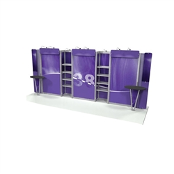 Linear 10ft x 20ft Kit 38 Trade Show Display provides the looks, style and sophistication of a custom exhibit with the ease, convenience and value that you're looking for. The Linear range of portable exhibits is designed to ship with minimal lead time