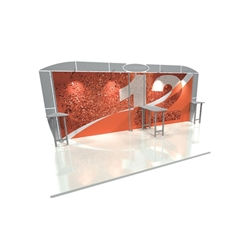 Linear 10ft x 20ft Kit 12 Trade Show Display provides the looks, style and sophistication of a custom exhibit with the ease, convenience and value that you're looking for. The Linear range of portable exhibits is designed to ship with minimal lead time