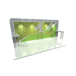 Linear 10ft x 20ft Kit 14 Trade Show Display provides the looks, style and sophistication of a custom exhibit with the ease, convenience and value that you're looking for. The Linear range of portable exhibits is designed to ship with minimal lead time
