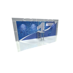Linear 10ft x 20ft Kit 17 Trade Show Display provides the looks, style and sophistication of a custom exhibit with the ease, convenience and value that you're looking for. The Linear range of portable exhibits is designed to ship with minimal lead time