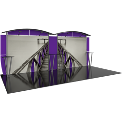 Linear 10ft x 20ft Kit 26 Trade Show Display provides the looks, style and sophistication of a custom exhibit with the ease, convenience and value that you're looking for. The Linear range of portable exhibits is designed to ship with minimal lead time