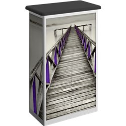 Linear Bold Rectangle Trade Show Portable Counter with Door Hardware Only offer sophisticated style to complement your trade show exhibit booth. Trades show linear bold portable counters, podiums offer great style and functionality for your exhibit