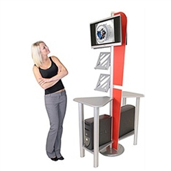 Linear Monitor Trade Show Kiosk Kit 3 Compliment your Linear Trade Show Display while adding excitement and attention to your trade show booth with these sleek attractive Linear Monitor Trade Show Kiosk Kit . Each Linear Monitor Trade Show Kiosk Kit 3