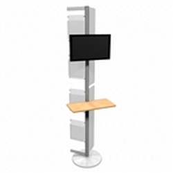 Linear Monitor Trade Show Kiosk Kit 07 Compliment your Linear Trade Show Display while adding excitement and attention to your trade show booth with these sleek attractive Monitor Stand Multi Media Kiosk with with Frosted Plex wings Linear Kit