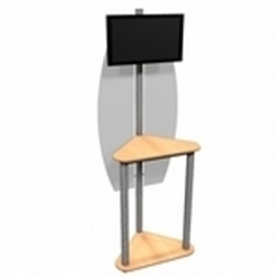 Linear Monitor Trade Show Kiosk Kit 06 Compliment your Linear Trade Show Display while adding excitement and attention to your trade show booth with these sleek attractive Monitor Stand Multi Media Kiosk with with Frosted Plex wings Linear Kit