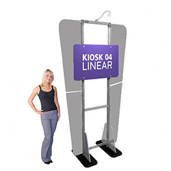 Linear Monitor Trade Show Kiosk Kit 04 Display Hardware Only. Compliment your Linear Trade Show Display while adding excitement and attention to your trade show booth with these sleek attractive Linear Monitor Trade Show Kiosk Kit