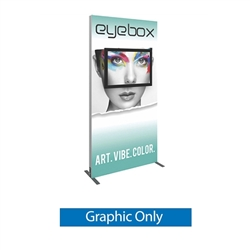Vector Frame monitor kiosk 02 Single Sided Monitor Mount is a stylish way to display media at any tradeshow, event, retail, corporate spaces. Vector Monitor Displays feature sleek push-fit fabric graphics and a choice of single or double-sided graphics