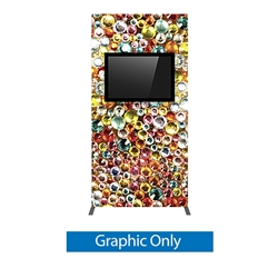 Vector Frame monitor kiosk 02 Double-Sided Monitor Mount is a stylish way to display media at any tradeshow, event, retail, corporate spaces. Vector Monitor kiosks feature sleek push-fit fabric graphics and a choice of single or double-sided graphics