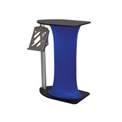 Symphony Bullet Counter Displays with Spandex Skirt Color are a one of a kind way to display any kind of literature or merchandise. Symphony Oval Counters are an eye catching way to display literature or merchandise at trade show booth