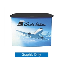 VFC-02 Vector Frame Counter Replacement Graphic Only compliment Vector Frame of exhibit kits, ideal for event, display or booth for your next trade show. Vector Frame Fabric backwalls, kits can configure from a banner to a backwall to a full exhibit.