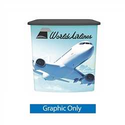 Replacement Graphic for Vector Frame Counter 03  compliment Vector Frame of exhibit kits, ideal for event, display or booth for your next trade show. Vector Frame Fabric backwalls, kits can configure from a banner to a backwall to a full exhibit.