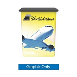 VFC-04 Vector Frame Counter Replacement Graphic Only compliment Vector Frame of exhibit kits, ideal for event, display or booth for your next trade show. Vector Frame Fabric backwalls, kits can configure from a banner to a backwall to a full exhibit.