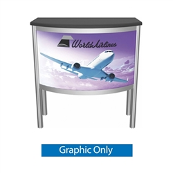 Vector Frame Counter 05 Replacement Fabric Only compliment Vector Frame of exhibit kits, ideal for event, display or booth for your next trade show. Vector Frame Fabric backwalls, kits can configure from a banner to a backwall to a full exhibit.