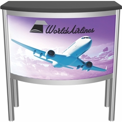 Vector Frame Counter 05 Only Frame Kit compliment Vector Frame of exhibit kits, ideal for event, display or booth for your next trade show. Vector Frame Fabric backwalls, kits can configure from a banner to a backwall to a full exhibit.