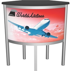 VFC-06 Vector Frame Counter Frame & Graphic compliment Vector Frame of exhibit kits, ideal for event, display or booth for your next trade show. Vector Frame Fabric backwalls, kits can configure from a banner to a backwall to a full exhibit.