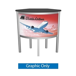 VFC-06 Vector Frame Counter Replacement Graphic Only compliment Vector Frame of exhibit kits, ideal for event, display or booth for your next trade show. Vector Frame Fabric backwalls, kits can configure from a banner to a backwall to a full exhibit.