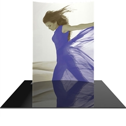 8ft x 10ft Formulate Master Horizontal Curve Display with Single Sided Fabric Print. This display offers graphic area to get you noticed at your trade show! Formulate Displays are available in three layouts: straight, horizontally curved, and vertica