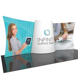 20ft Formulate Designer Series Backwall Tension Fabric Display Kit 03 offer you a quick and professional look for your trade show booth. Formulate Designer Series Backwall Displays with built in counter cost-effective trade show backdrops