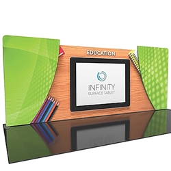 20ft Formulate Designer Series Backwall Tension Fabric Display Kit 04 offer you a quick and professional look for your trade show booth. Formulate Designer Series Backwall Displays with built in counter cost-effective trade show backdrops