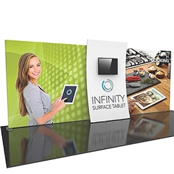 20ft Formulate Designer Series Backwall Tension Fabric Display Kit 05 offer you a quick and professional look for your trade show booth. Formulate Designer Series Backwall Displays with built in counter cost-effective trade show backdrops