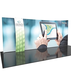 20ft Formulate Designer Series Backwall Tension Fabric Display Kit 09 offer you a quick and professional look for your trade show booth. Formulate Designer Series Backwall Displays with built in counter cost-effective trade show backdrops