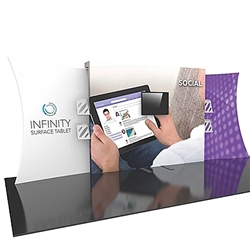 20ft Formulate Designer Series Backwall Tension Fabric Display Kit 11 offer you a quick and professional look for your trade show booth. Formulate Designer Series Backwall Displays with built in counter cost-effective trade show backdrops