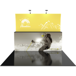 10ft Formulate Designer Series Backwall Tension Fabric Display Kit 13 offer you a quick and professional look for your trade show booth. Formulate Designer Series Backwall Displays with built in counter cost-effective trade show backdrops