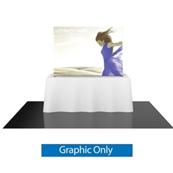 Replacement Fabric for 6ft Formulate TT1 Curved Table Top Display. Formulate offers a sleek design in a compact size to fit any trade show table! Wide Variety of Affordable Portable Table Top Displays, Tabletop Trade Show Displays, Table Displays