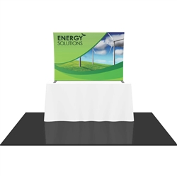 6ft Formulate TT2 Curved Table Top Display with Fabric Print offers a sleek design in a compact size to fit any trade show table! Wide Variety of Affordable Portable Table Top Displays, Tabletop Trade Show Displays, Table Displays