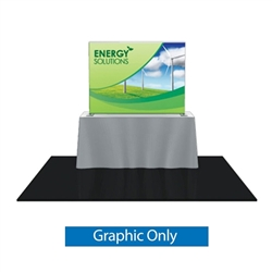 Replacement Fabric for 6ft Formulate TT2 Curved Table Top Display. Formulate offers a sleek design in a compact size to fit any trade show table! Wide Variety of Affordable Portable Table Top Displays, Tabletop Trade Show Displays, Table Displays