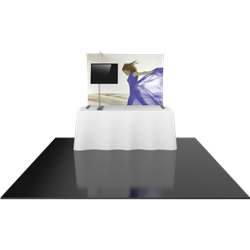 6ft Formulate TT3 Curved Table Top Display with Fabric Print offers a sleek design in a compact size to fit any trade show table! Wide Variety of Affordable Portable Table Top Displays, Tabletop Trade Show Displays, Table Displays