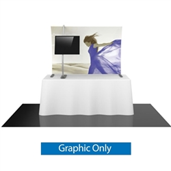 Replacement Fabric for 6ft Formulate TT3 Curved Table Top Display. Formulate offers a sleek design in a compact size to fit any trade show table! Wide Variety of Affordable Portable Table Top Displays, Tabletop Trade Show Displays, Table Displays
