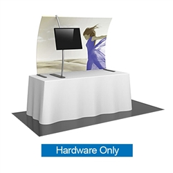 6ft Formulate TT3 Curved Table Top Display Hardware Only offers a sleek design in a compact size to fit any trade show table! Wide Variety of Affordable Portable Table Top Displays, Tabletop Trade Show Displays, Table Displays
