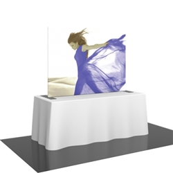 Replacement Fabric for 6ft Formulate TT4 Straight Table Top Display.  Formulate offers a sleek design in a compact size to fit any trade show table! Wide Variety of Affordable Portable Table Top Displays, Tabletop Trade Show Displays, Table Displays