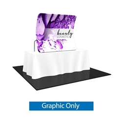 Replacement Fabric for 6ft Formulate Essential Tabletop Vertical Curve Display. Formulate Essential Table Top display have customary frame features, are portable and come in Straight, Vertical Curved and Horizontal Curved options