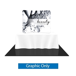 Replacement Fabric for 6ft Formulate Essential Tabletop Horizontal Curve Display. Formulate Essential Table Top display have customary frame features, are portable and come in Straight, Vertical Curved and Horizontal Curved options