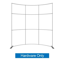 Formulate HC1 10ft Horizontally Curved Backwall Hardware Only offers a large format graphic area to get you noticed at your events! Curved Tension Fabric Backwall Exhibits. New dimension to your trade show exhibit with a fabric back