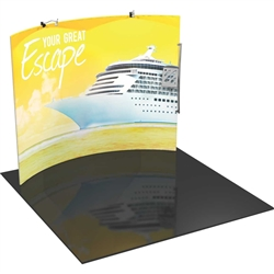 Orbus Formulate HC3 10ft Horizontally Curved Fabric Display Kit create a stunning 3-dimensional display in a SNAP! The Orbus Formulate fabric trade show booths are the rage of the trade show industry.