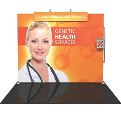 Formulate S3 10ft Straight Backwall Tension Fabric Display Kit. We offer fabric trade show banners, stretch fabric trade show booth kit, fabric tradeshow booth walls, hop up tension fabric display, showstopper exhibits, stretch display fabric