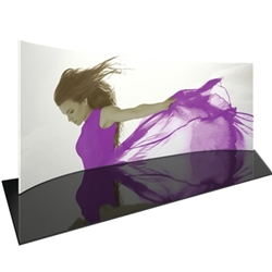 Orbus Formulate 20 WH1 20ft Horizontally Curved Backwall Tension Fabric Display offers a large format graphic area to get you noticed at your events! Add a whole new dimension to your trade show exhibit with a seamless fabric graphic