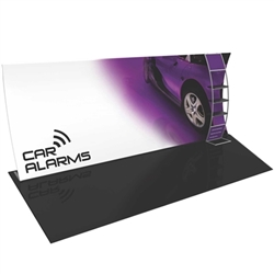 Orbus Formulate 20 WV4 20ft Vertically Curved Fabric Trade Show Display Kit with Multi-Shelf Ladder offers a large format graphic area to get you noticed at your events! Add a whole new dimension to your trade show exhibit with a seamless fabric Display