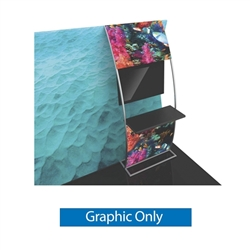 Graphic for Formulate Stand-off Monitor Mount with Shelf. Quickly attach a flat-screen display to your trade exhibit with the Formulate Stand-off Monitor Mount with Shelf.