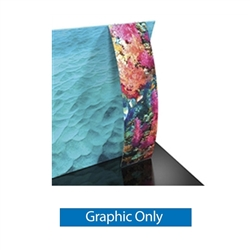 The Formulate Stand-off Pillowcase Graphic Ladder adds a stunning graphic accent to any tradeshow display. This one-of-a-kind Formulate accessory works with either 10' or 20' backwalls and includes its own frame and pillowcase graphic.