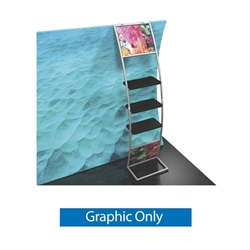 Graphic for Formulate Multi-shelf Ladder. Give your trade display some much needed accent with this Formulate Multi-shelf Ladder accessory. Designed as a versatile easy-to-attach display shelf.