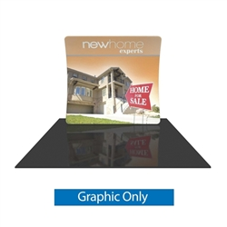 Formulate Essential 8ft Vertical Curve Display Replacement Fabric offers graphic area to get you noticed at your trade show! Formulate Essential Trade Show Displays are available in three layouts: straight, horizontally curved, and vertically curved.