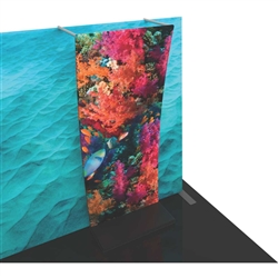 Formulate Backwall Accent 08 adds a stunning graphic accent to any tradeshow display. This one-of-a-kind Formulate accessory works with either 10' or 20' backwalls and includes its own frame and pillowcase graphic.